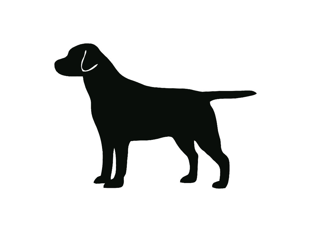 Clipart dog dark wine silhouette.