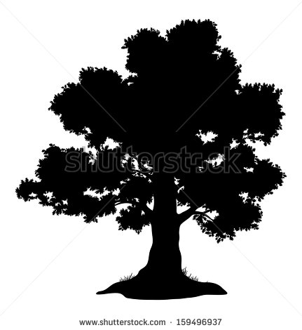Tree Silhouette Stock Photos, Royalty.
