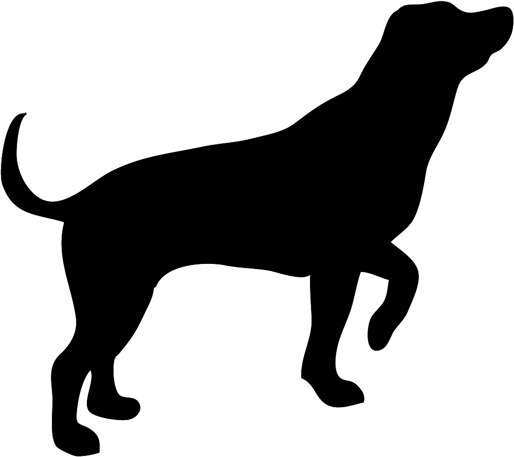 Clipart dog dark silhouette.