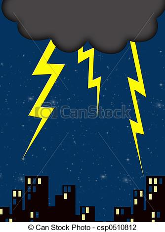 Lightninh Skies Clipart.