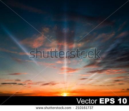 Dark Sky Sunset Stock Vectors & Vector Clip Art.