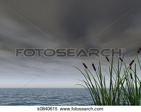 Stock Illustration of dark sky k0840615.