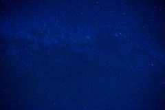 Blue Dark Night Sky With Many Stars Stock Photo.