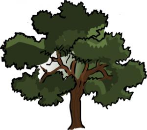 Tree Oak Dark Clip Art Download.