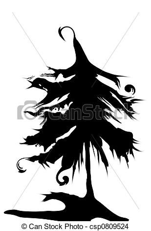 Drawing of Haunted Tree.