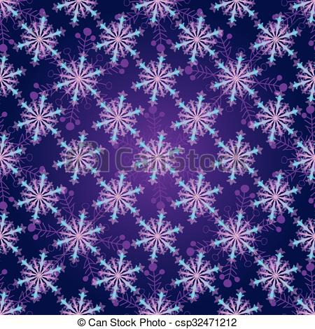Vector Clip Art of Seamless dark violet christmas pattern with.