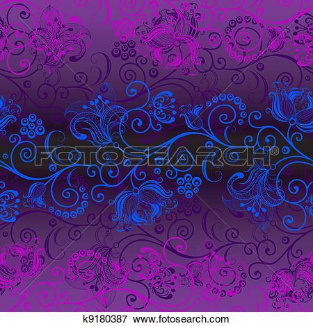 Clip Art of Seamless dark violet pattern k9180387.