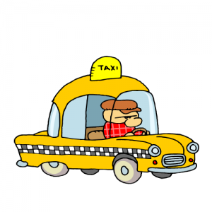 clip art of dark yellow taxi for cars lovers.
