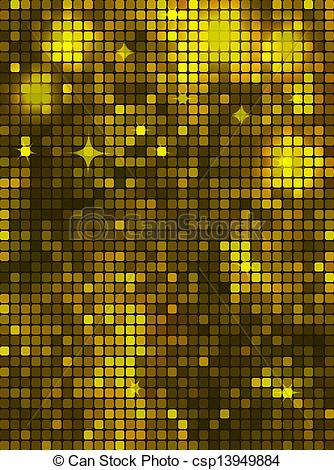 Vector of Dark yellow rectangle mosaic.