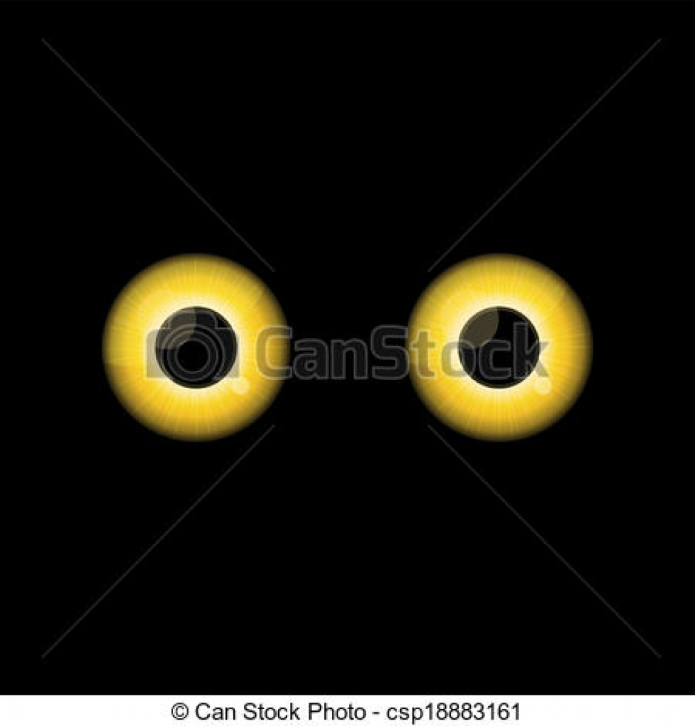 yellow eyes clipart yellow eyes clipart clip art vector of yellow.