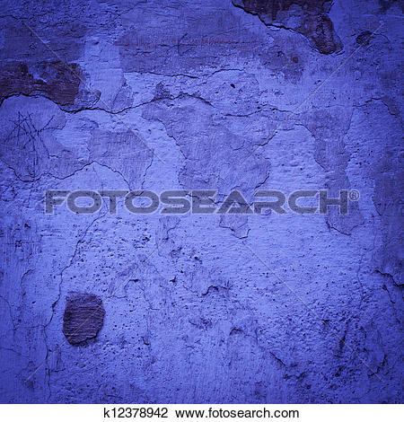 Clip Art of concrete blue darken wall texture background k12378942.