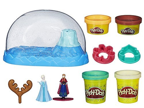 Play Doh Disney Frozen Sparkle Snow Dome Set With Elsa And Anna +.