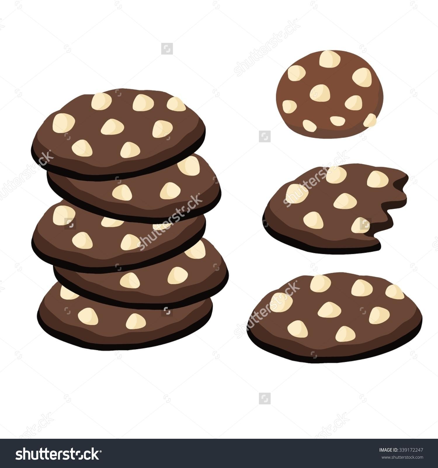 Cookies Made Dark Chocolate White Chocolate Stock Vector 339172247.