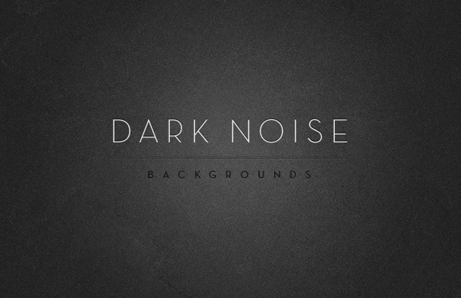 Dark Noise Backgrounds.