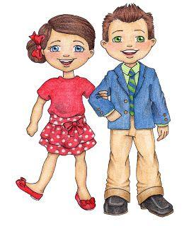 Primary girl & boy.
