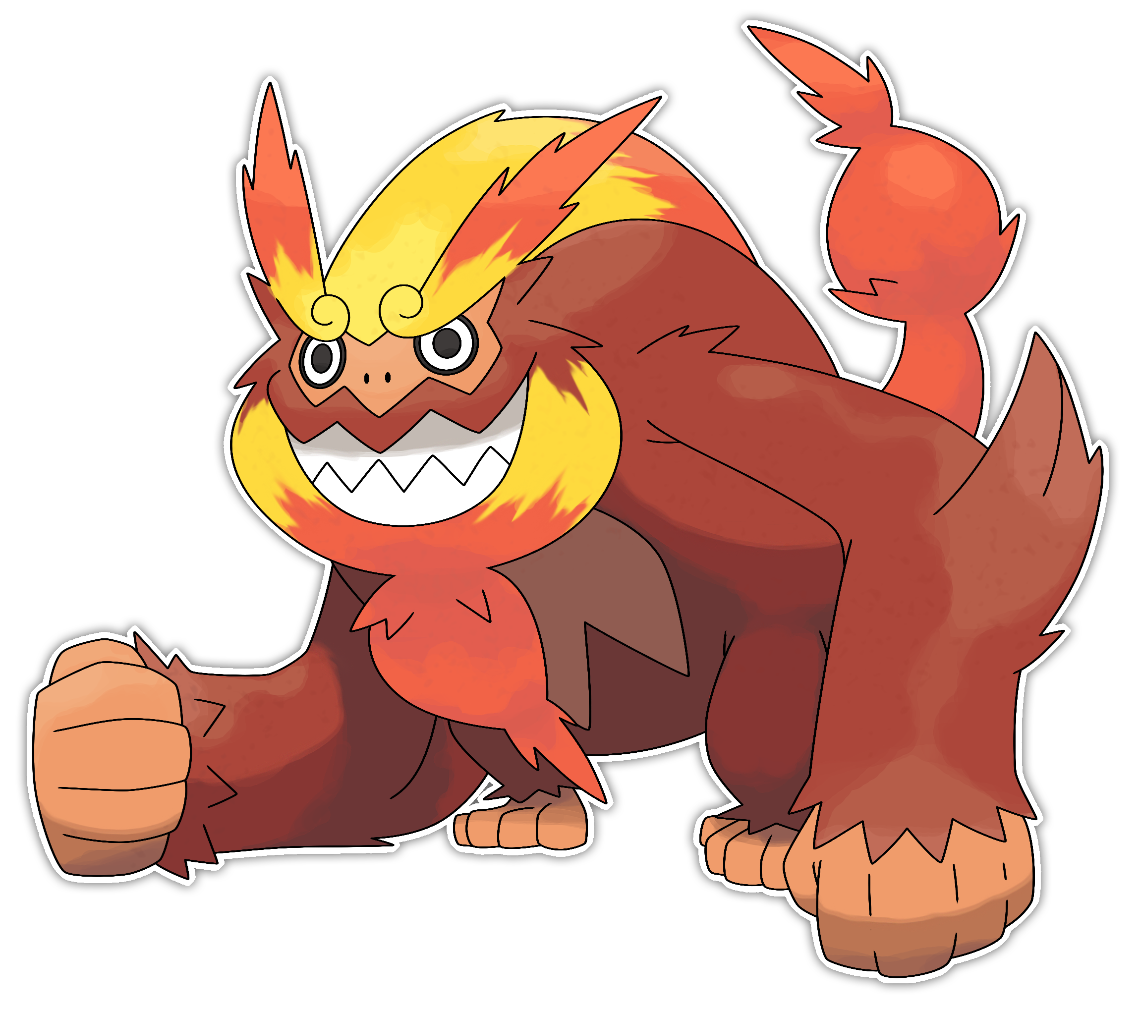 Mega Darmanitan by Smiley.