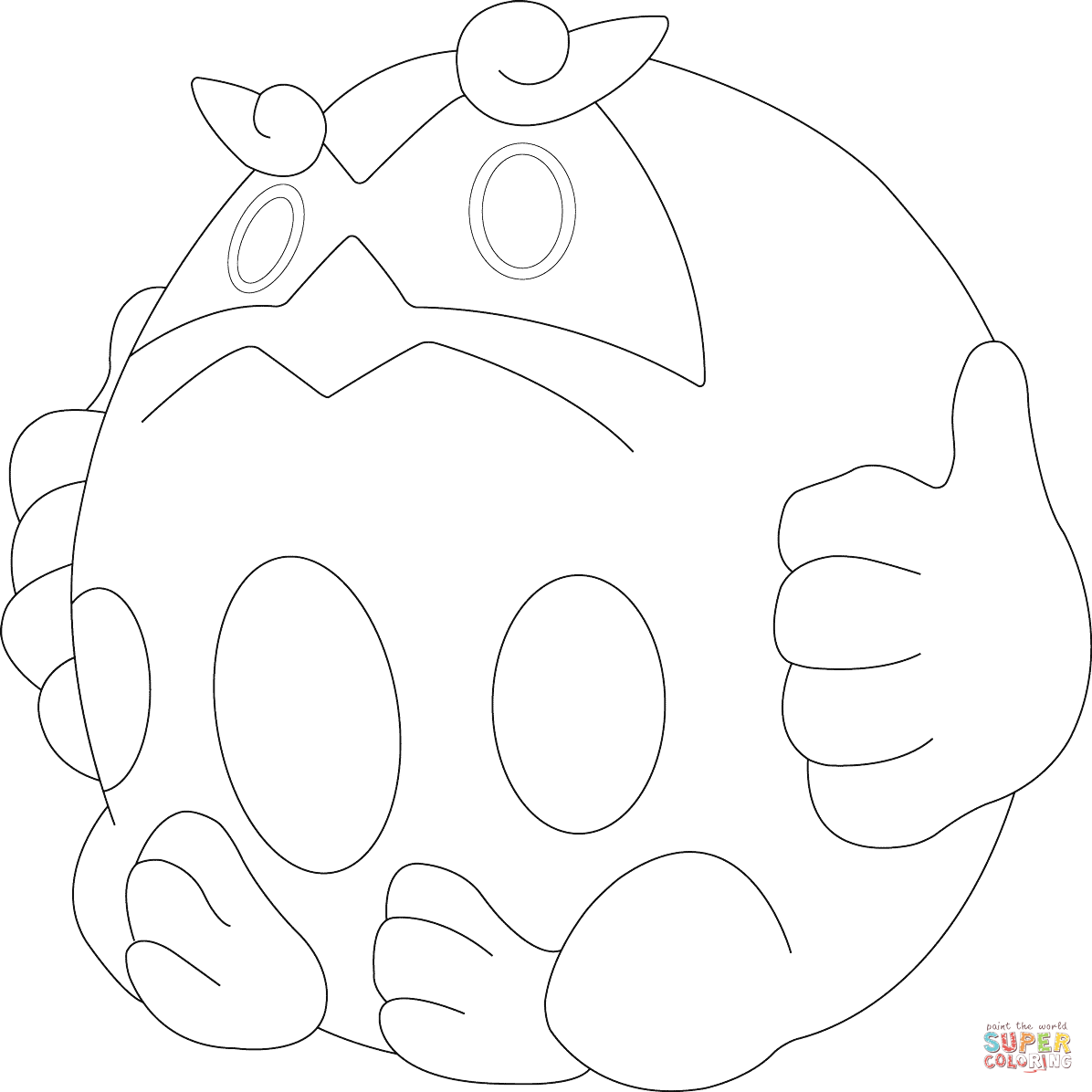 Darmanitan in Zen Mode coloring page.