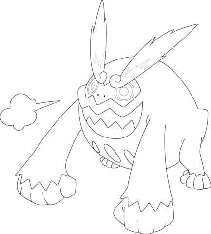 Darmanitan Pokemon coloring page.