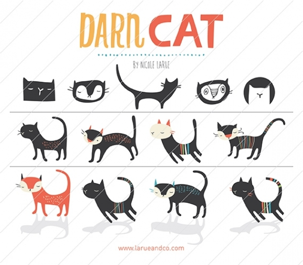 Darn Cat (Clipart).