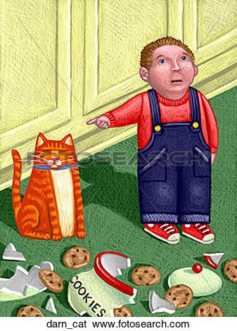 Stock Illustration of Darn Cat darn_cat.