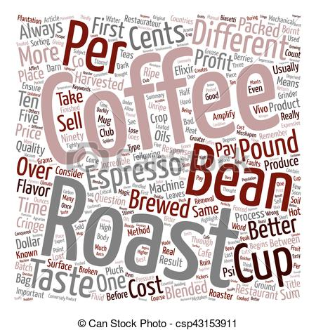 Vector Clip Art of Coffee So Darn Expensive text background.