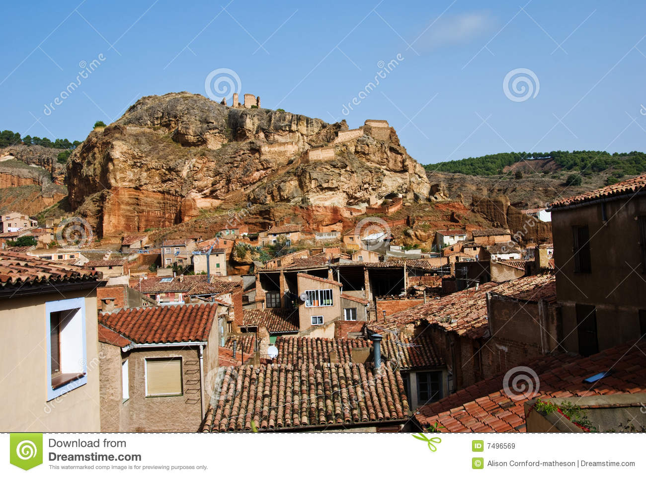Daroca Spain Royalty Free Stock Images.