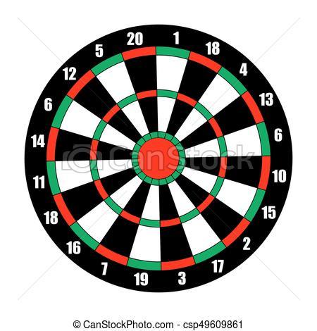 Dart board. Dart target isolated on white..