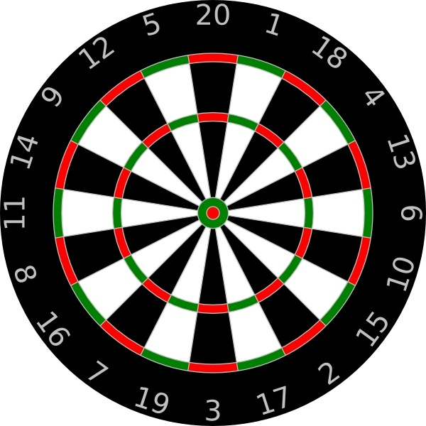 Dartboard clip art Free vector in Open office drawing svg ( .svg.