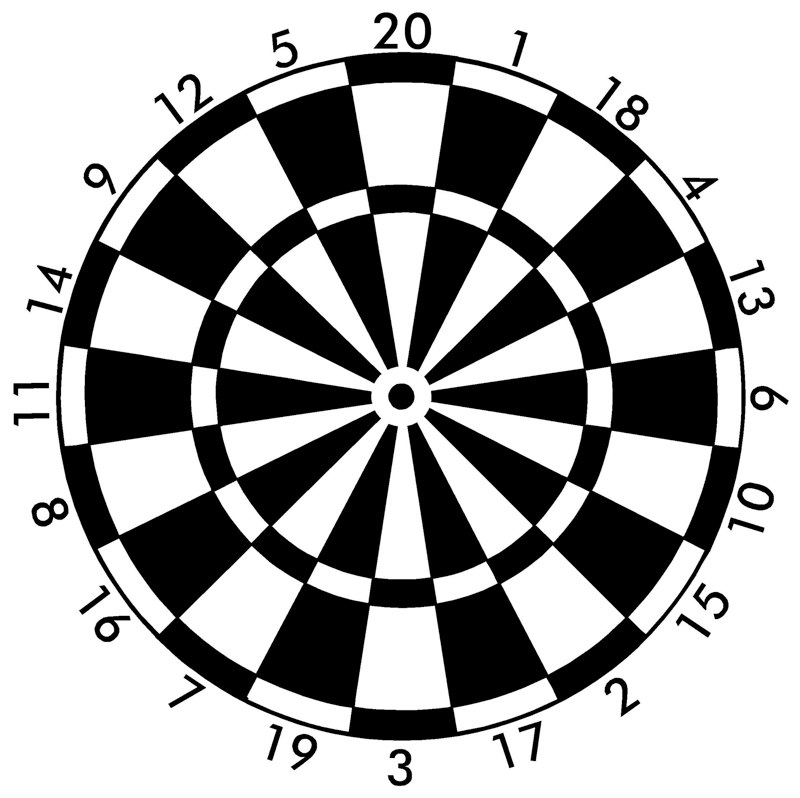 Dart Board Graphic.