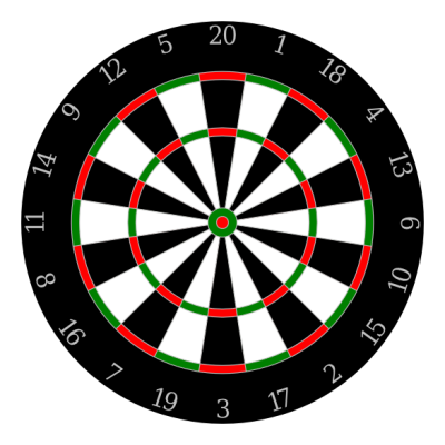 Clipart dart game.