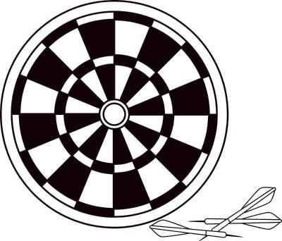 Dart Board Clipart.