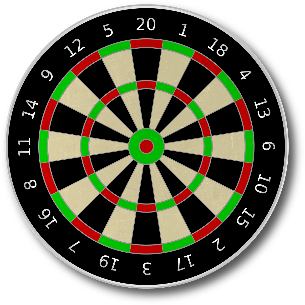 Dart Board Darts Target PNG.