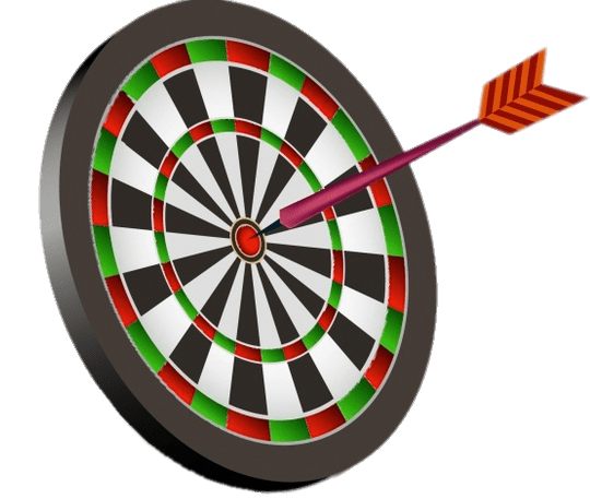 Dart In the Centre Of A Dartboard transparent PNG.
