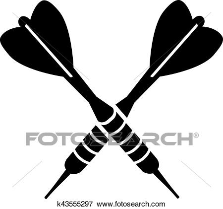 Darts Dart Arrows Crossed Clip Art.