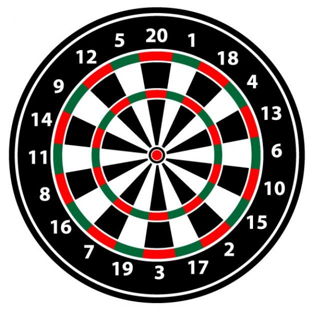 Realistic dartboard vector illustration Vector.