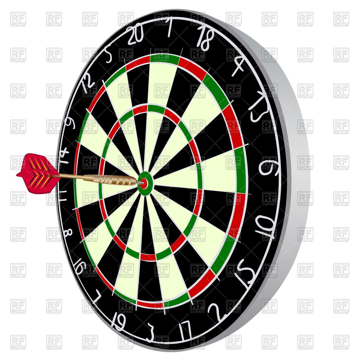 Color Darts aim with darts Stock Vector Image.