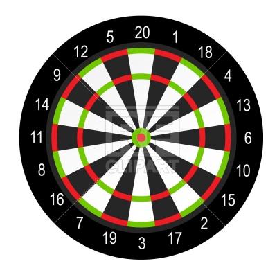 Dart board Stock Vector Image.