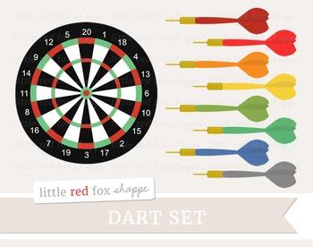 Dart Clipart; Game, Board, Target.