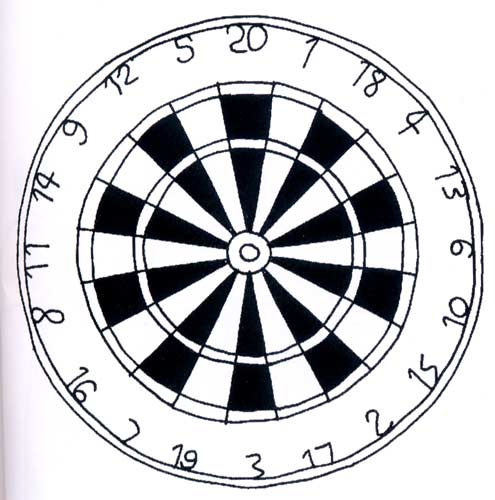 dart board coloring pages - photo#26