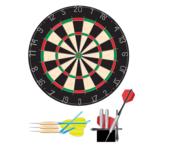 Dart Board Clip Art, Vector Dart Board.