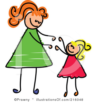 Mom daughter clipart.