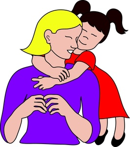 Mom And Daughter Clipart.