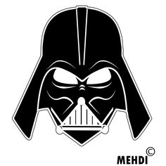 Darth vader head clipart.