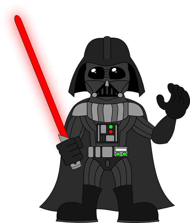 Darth vader clipart outline.