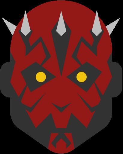 Darth, maul, sith, star wars icon.
