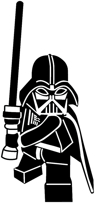 Darth Vader Black And White Stock Clipart Force Unleashed Sticker.