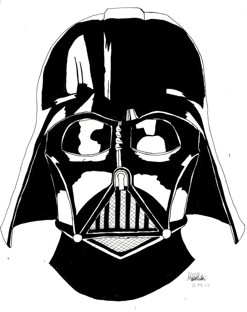 Darth vader clipart black and white 6 » Clipart Station.