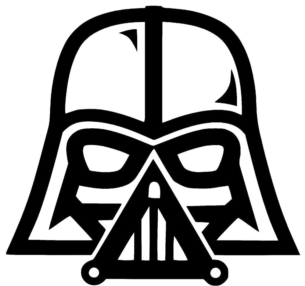 Darth vader clipart black and white 3 » Clipart Station.