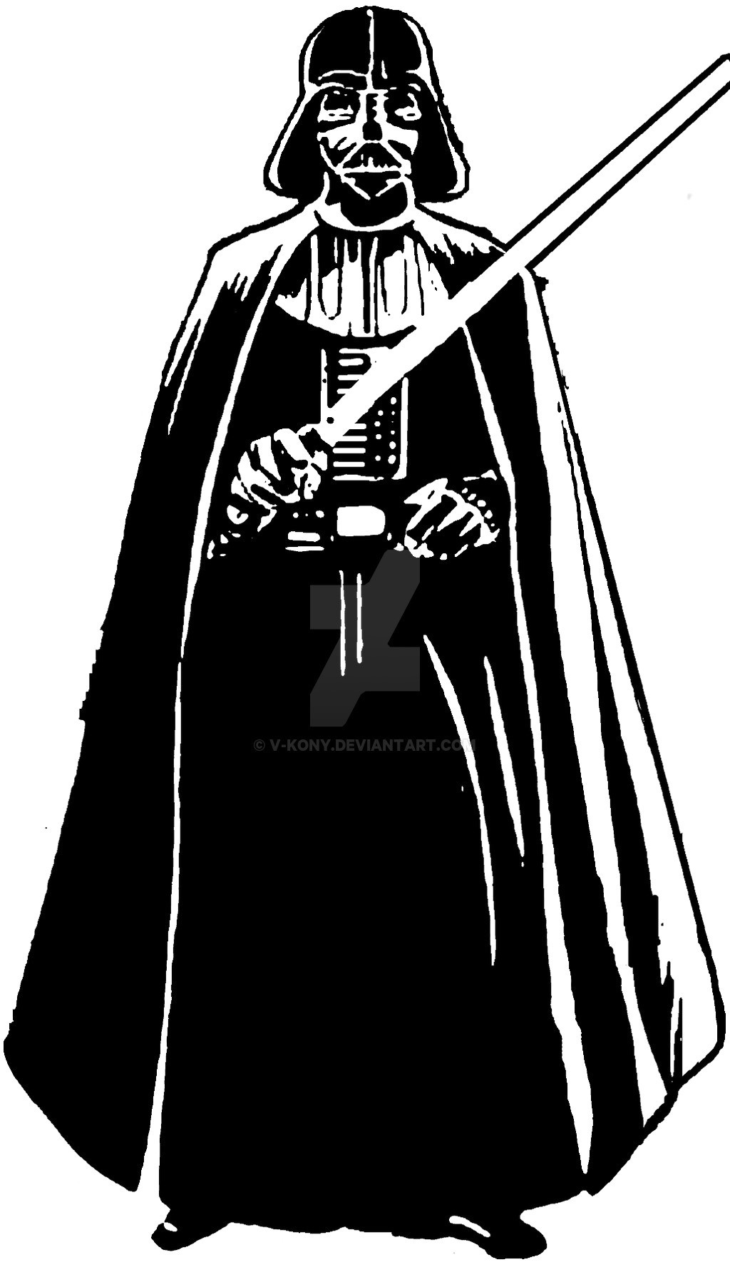 Darth vader clipart black and white » Clipart Station.