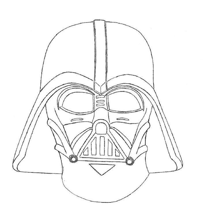 Darth Vader Clipart Outline Clipground